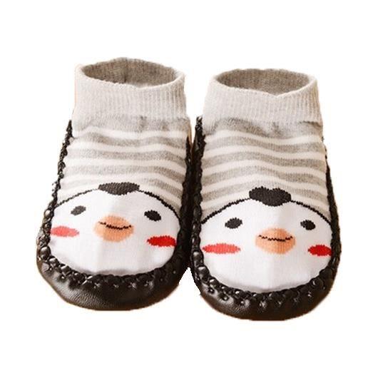 854557af35bba Chaussons chaussettes bébé avec semelle antidérapante (6-12 Mois ...