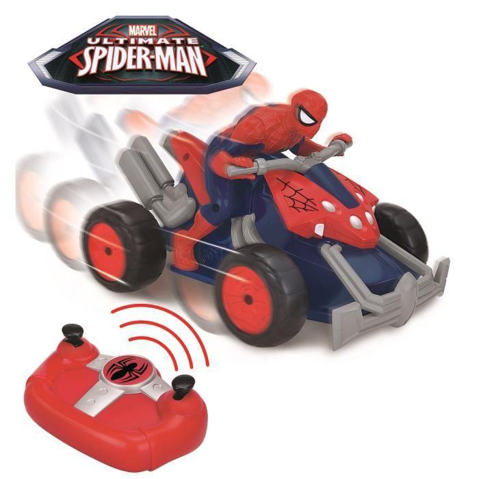 Spiderman moto quad radio command e de 23 cm achat - Spider man moto ...
