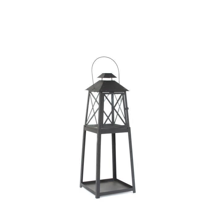 Mica Decorations Lanterne A Pied Porto L 28 X L 28 X H 79 Cm