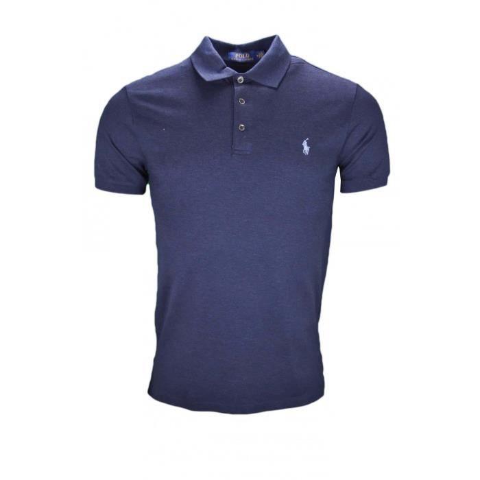 Polo Ralph Lauren bleu marine slim fit pour homme Taille: S