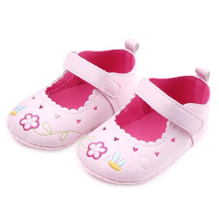 BOTTE Bébé nouveau-né bébé Floral Print Sneaker antidérapant doux Sole Toddler Chaussures@RoseHM