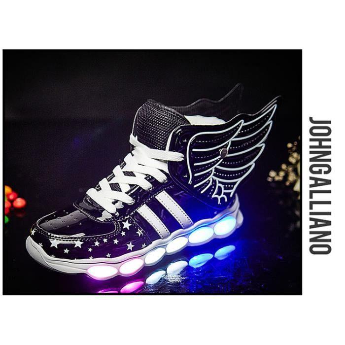 Baskets respirantes enfants d'été avec lumière Sport Led USB lumineux chaussures éclairées pour enfants garçons