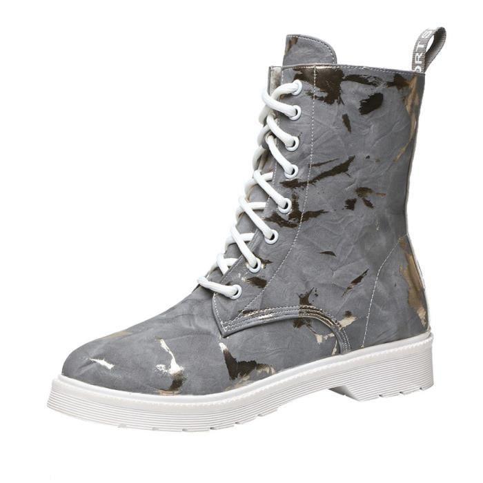 DERBY Femmes Carré chaussures à talons en cuir Martain B