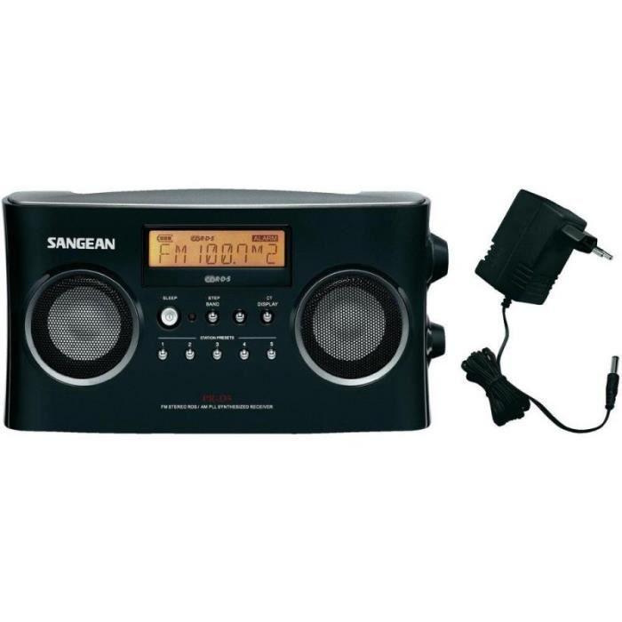 Radio stéréo portable RDS Sangean PR-D5 noire - radio cd cassette ...
