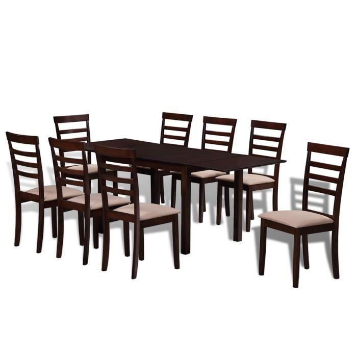 Salle A Manger Complete Extensible Avec Chaises Achat Vente Pas Cher
