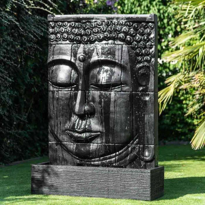 fontaine de jardin grande fontaine extrieur mur deau visage - Mur D Eau Exterieur