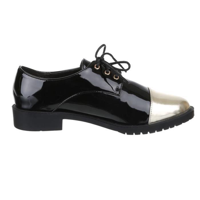 Femme chaussures flâneurs lacer noir 40