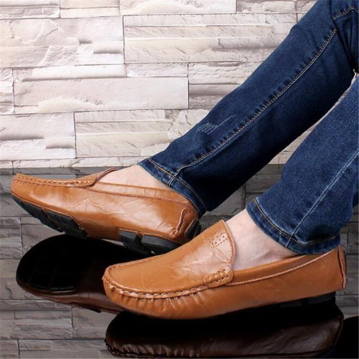 chaussure homme en cuir De Marque De Luxe 2017 ete Moccasin hommes Nouvelle Mode Confortable Classique Loafer Grande Taille