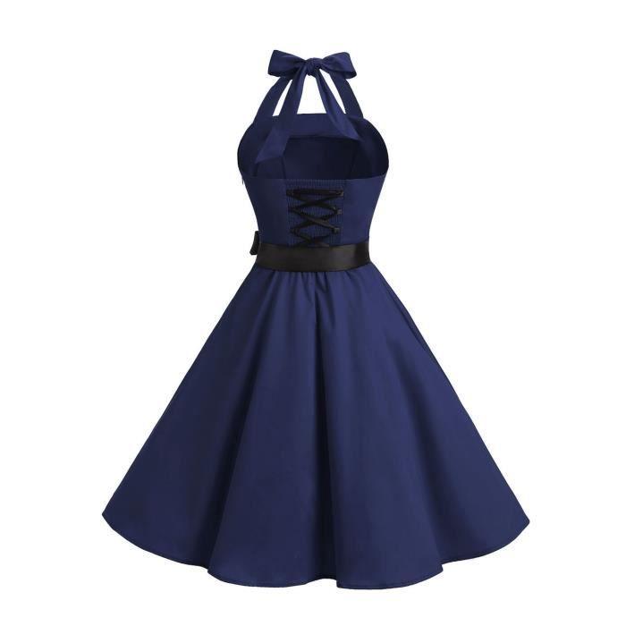 Les années 1950 sans bretelles rétro Vintage femmes Robes de bal à lacets 2ND79Z Taille-34
