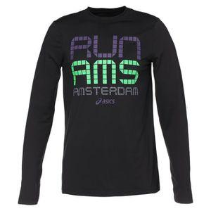 MAILLOT DE RUNNING ASICS T-shirt City Homme - Noir