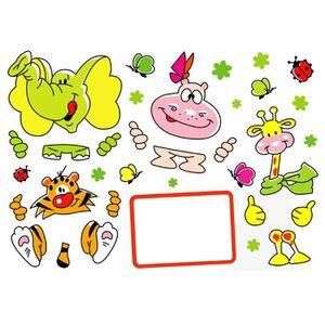 PLAGE Sticker déco - Animaux gribouilles1 Planche 70x100 cm