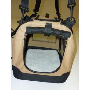 Cage de transport pliable en plastique - 42x30x30 cm - Pour chien ou chat