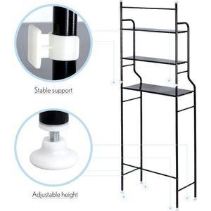 COLONNE - ARMOIRE WC Meuble WC Armoire de toilette Noir placard de sall