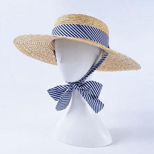 CHAPEAU - BOB Chapeau de paille de blé de nouvelles femmes à bor