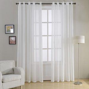 voilage en lin blanc achat vente voilage en lin blanc pas cher soldes d s le 10 janvier. Black Bedroom Furniture Sets. Home Design Ideas