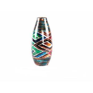 VASE - SOLIFLORE Vase en céramique - motif géométrique (14x14x30 cm