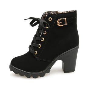 dfb95f98e8ed2d BOTTINE Chaussures@ Bottines à lacets à talons hauts pour