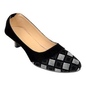 56b06934f2113 BALLERINE de femme noir et gris talon ballerine pour (foot 1