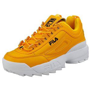 chaussure fila disruptor jaune