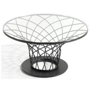 TABLE BASSE Table Basse Design Acier & Verre