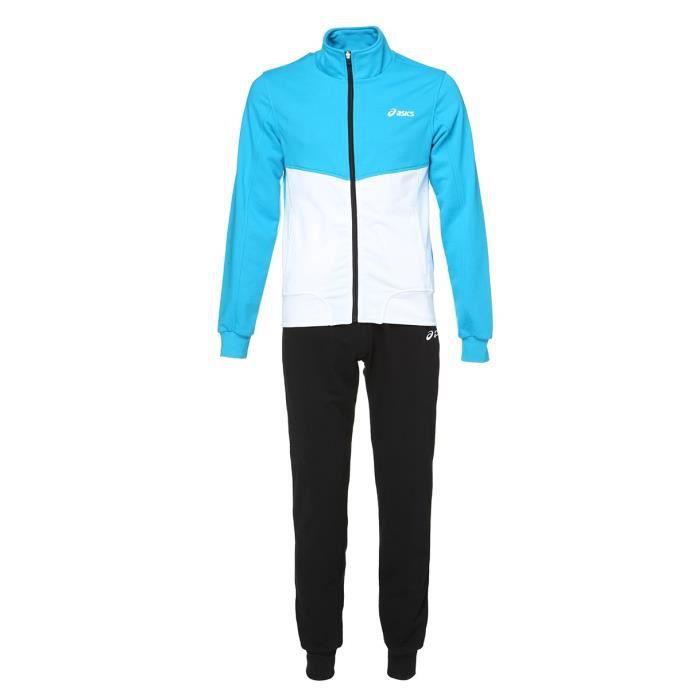 Pour homme - Col rond - Fermeture zippée - Coloris : bleu, blanc et noirSURVETEMENT - JOGGING DE SPORT