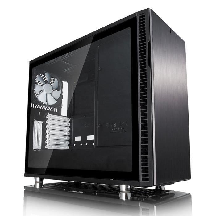 FRACTAL DESIGN Boitier PC, Define R6, Verre trempé, Noir