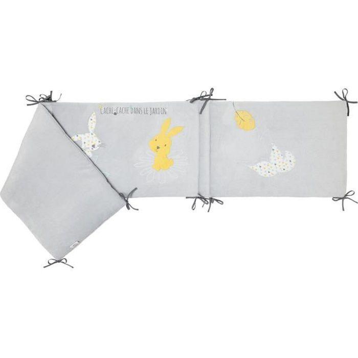 BABYCALIN Tour de lit Adaptable Lapin Cache-cache - 40 x 180 cm