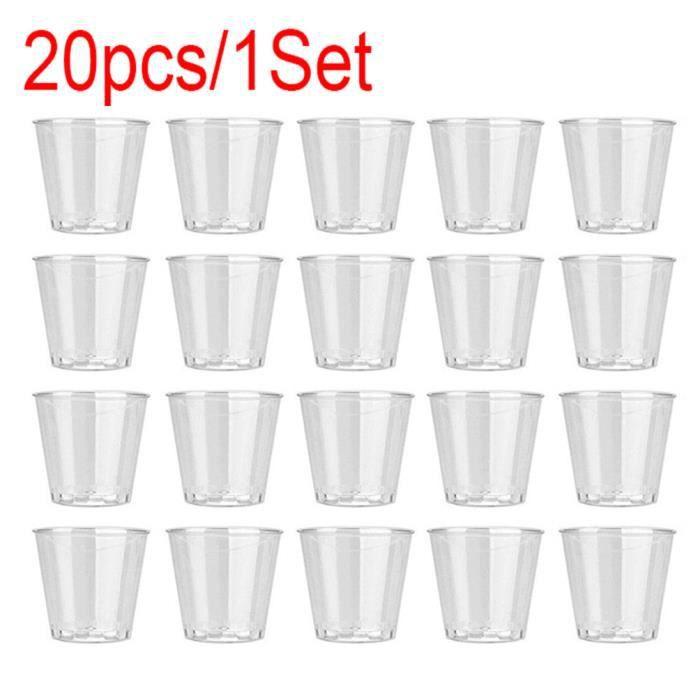 Qualité jetable en plastique clair dur verres gobelets pour fête occasions