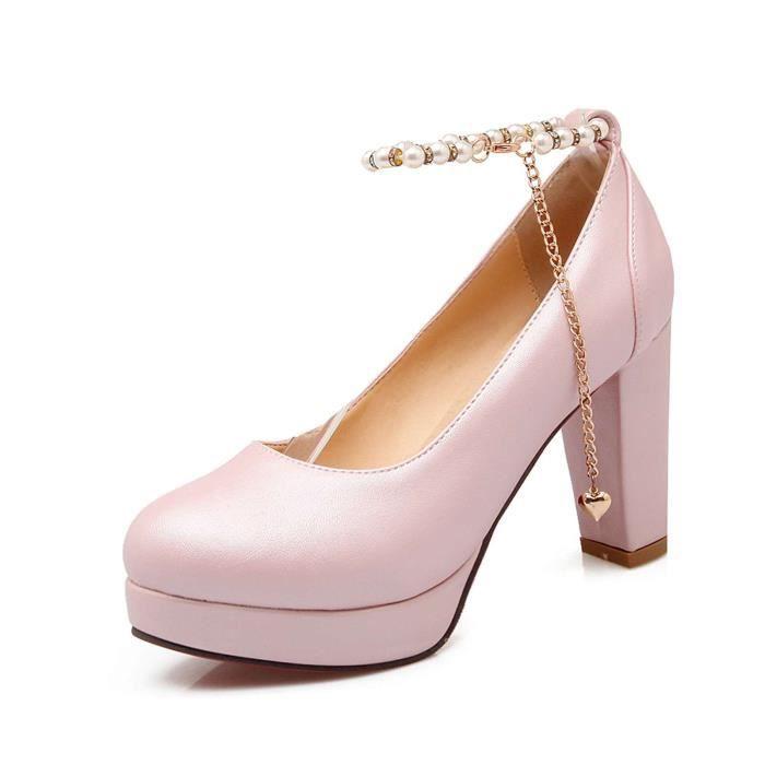 Chaussure Femmes Sexy Avec Décoré Brillant élégant Solide Honorable L'amour Décoration