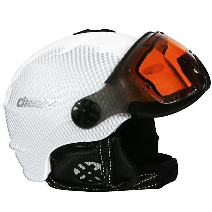 Diezz Shinning Visiere Casque Ski Unisexe Taille 59 61 Blanc