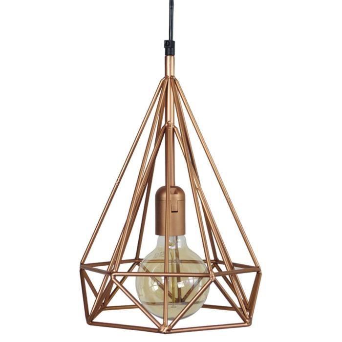trylis lustre suspension fil m tal diam tre 23 cm cuivre achat vente trylis suspension. Black Bedroom Furniture Sets. Home Design Ideas