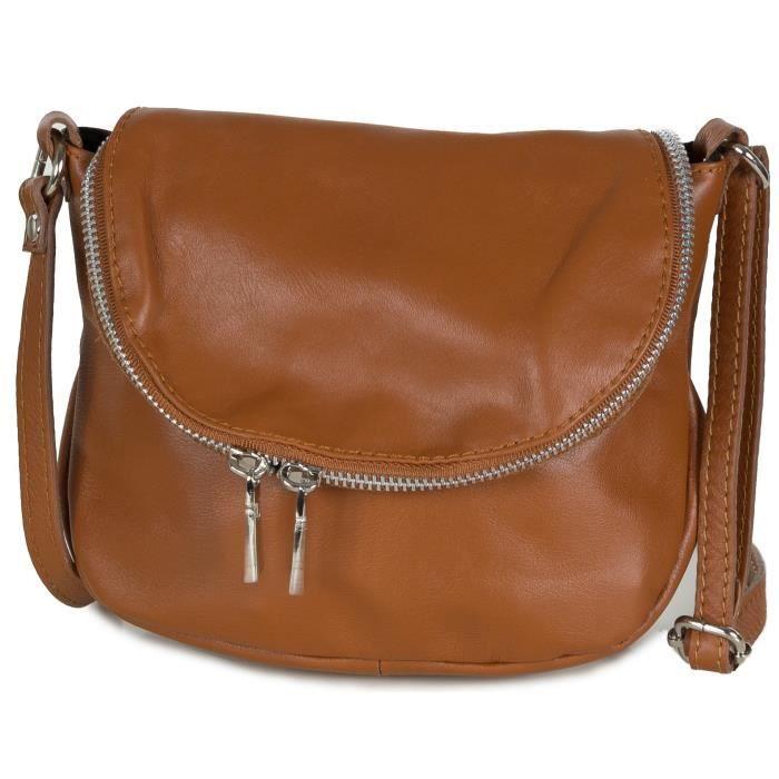 Petit sac à bandoulière en cuir - Sac du soir (20 X 17 X 7 cm) JHXP2