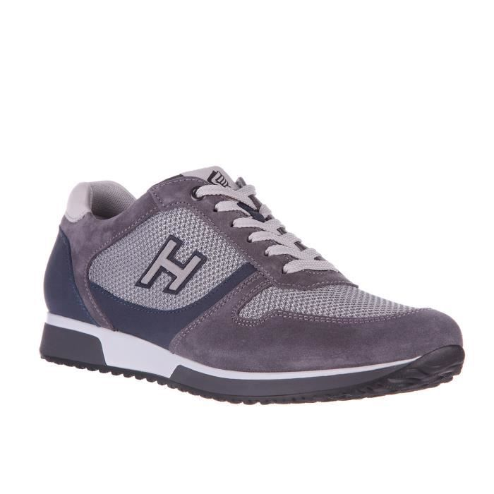 Chaussures baskets sneakers homme en daimh198 slash h flock Hogan 385NVr