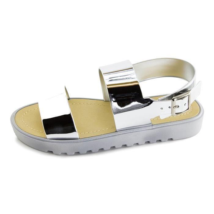 Kali Bout ouvert pour femme Gladiator boucle cheville sandales (adultes) PGUZ0 Taille-41