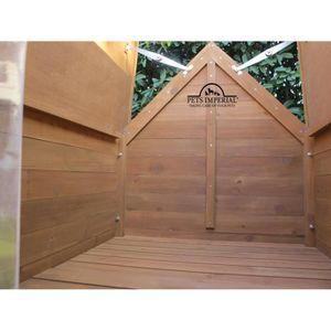 niche a chien en bois achat vente niche a chien en. Black Bedroom Furniture Sets. Home Design Ideas