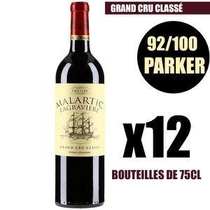 VIN ROUGE X12 Château Malartic-Lagravière 2014 75 cl AOC Pes