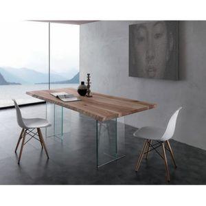 Table Tronc D Arbre Et Pieds En Verre Amazone Meuble