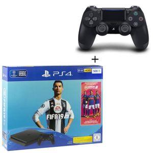 CONSOLE PS4 NOUVEAUTÉ Pack PS4 500 Go + FIFA 19 + 2ème manette DualShock