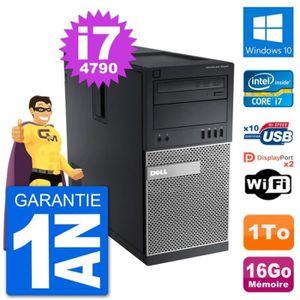 ORDI BUREAU RECONDITIONNÉ PC Tour Dell 9020 Intel Core i7-4790 RAM 16Go Disq