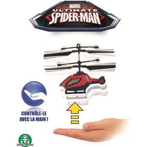 AVIATION SPIDERMAN Hélicoptère Contrôlable à la Main 12 cm