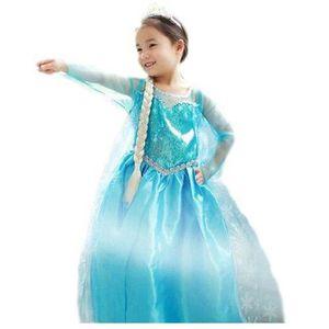 DÉGUISEMENT - PANOPLIE Robe Bleue Reine des Neiges Elsa Look Princesse St