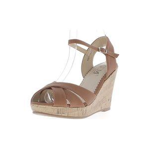 Sandales Pas Cher Camel Compensees Vente Achat 0OwnkP