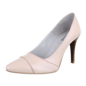 ESCARPIN Chaussures femmes Escarpins cuir Talon haut Beige