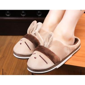 Chaussons Peluche Pantoufles Hommes Et Femmes Chaussons Hiver Slipper Rayures Shoes Chaussures de couple Taille 36-44 3Dt9NvwIh6