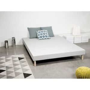 SOMMIER Sommier tapissier gris 160x200 cm