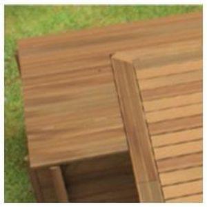 PISCINE Coffre filtration en bois pour piscine urbaine