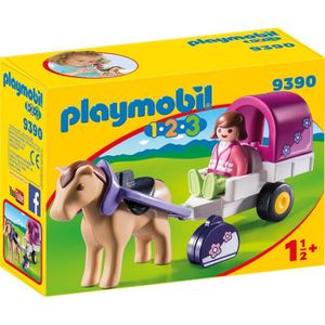FIGURINE - PERSONNAGE PLAYMOBIL 1 2 3 9390 - PLAYMOBIL 1.2.3 - Carriole