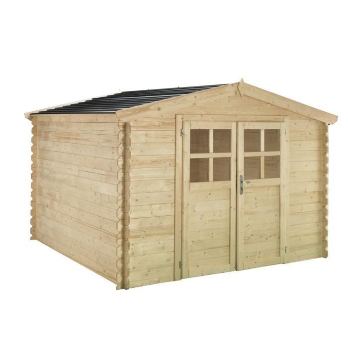 Chalet en bois 3 x 2m 28mm avec toiture en polycarbonate - Nouvelle innovationABRI DE JARDIN - CHALET