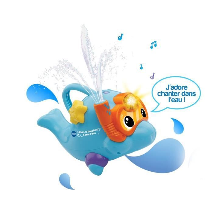 VTECH BABY - Jouet de Bain - Aldo le dauphin à jets d'eau
