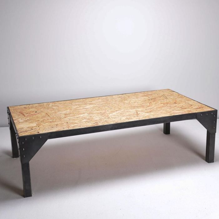 Table Basse Industrielle Strong Couleur Osb Achat Vente Table